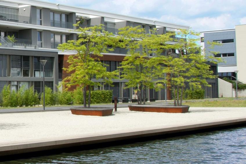 Das Firmengebäude der rdts AG am Stammsitz in Trier